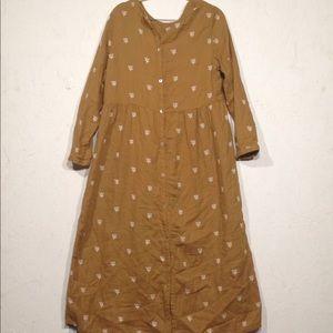 Rylee + Cru Long Dress Emperor waist Mustard m